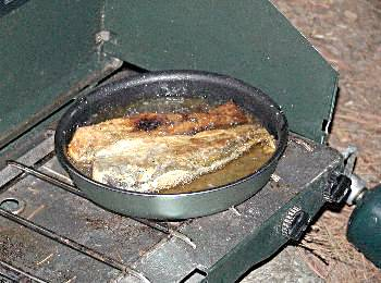 Fried trout for supper - Algonquin Provincial Park